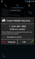 Screenshot of Zoner Mobile Security