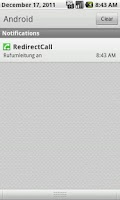Screenshot of RedirectCall Unlock Key