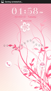 Pink Flowers GO Locker - screenshot