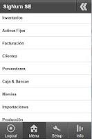 Screenshot of SigNum Solución Empresarial