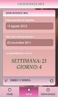 Screenshot of Gravidanza Mia
