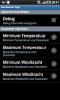 Screenshot of Zwaaiweer App