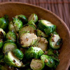 Annie Lau's Garlic Stir-Fried Brussels Sprouts