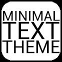 Minimal Black Text THEME FREE