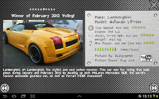 Screenshot of Cool Cars - Vote It!