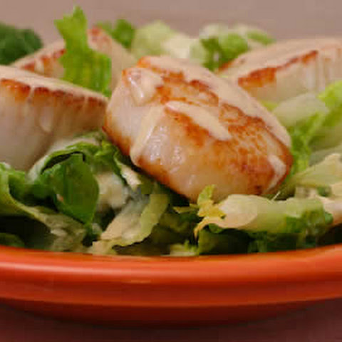 Warm Scallop Caesar Salad