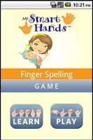 Screenshot of ASL spelling game