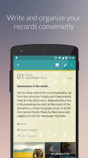 Diaro - diary, journal, notes - screenshot