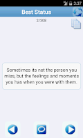 Screenshot of Statuses & Quotes Collection!!