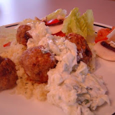 Lamb Meatballs With Cucumber Mint Yogurt and Couscous