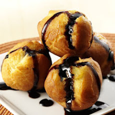 Olive Oil Doughnuts With Balsamic Glaze