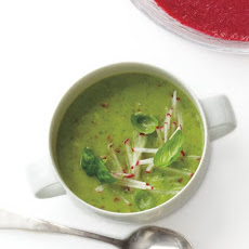 Avocado, Radish, and Basil Soup