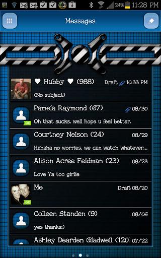 GO SMS - Techno Glow 3