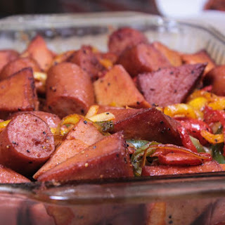 Smoked Sausage and Peppers with Bologna