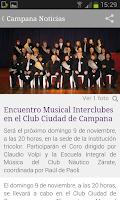Screenshot of Campana Noticias