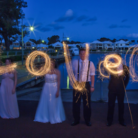 LOVE WEDDING by Steve Brooks - Wedding Other ( love, perth, wedding, australia, fire, western australia, sparklers,  )