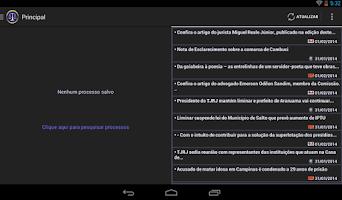 Screenshot of Consulta Processual