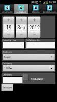Screenshot of Verbrauchsrechner