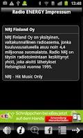 Screenshot of NRJ Finland