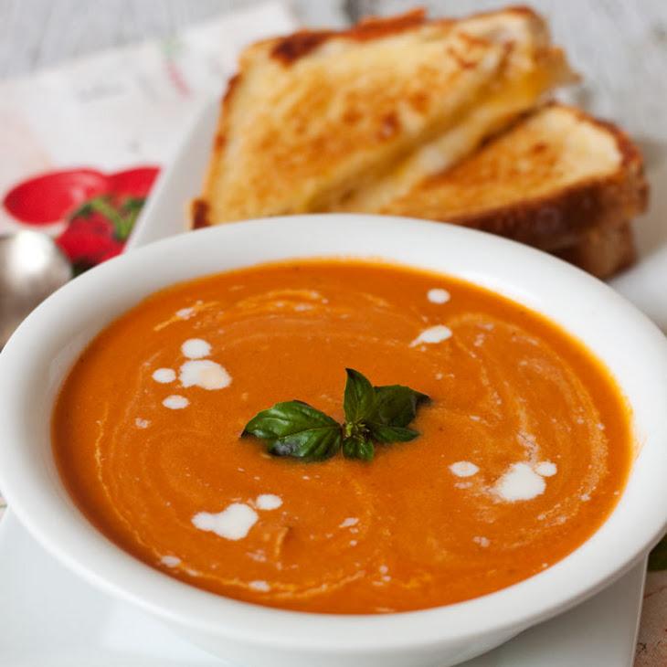 Creamy Tomato Basil Parmesan Soup Recipe | Yummly