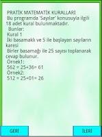 Screenshot of Matematik Kuralları Sayılar
