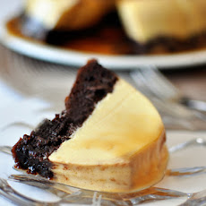 Chocolate Flan Cake {i.e. Magic Chocoflan!}