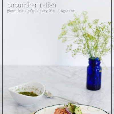 Baked Salmon with Cucumber Relish