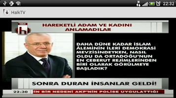 Screenshot of Halk Haber TV Resmi Uygulaması