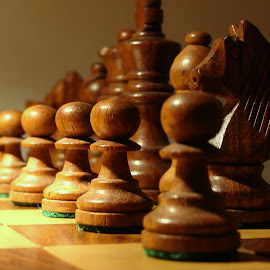Ready to Play? by Ayushi Singhania - Artistic Objects Other Objects ( chess board )