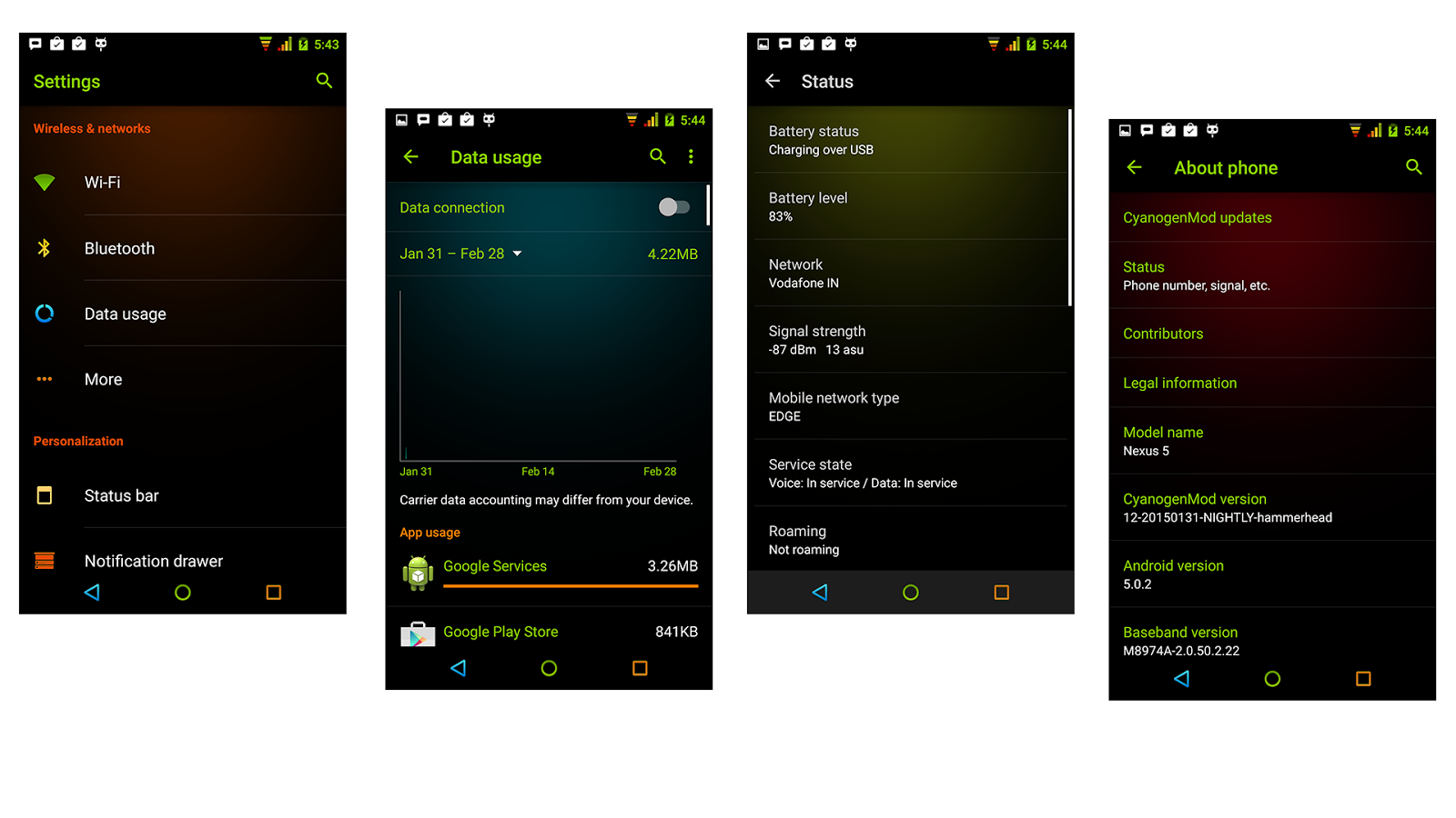 Neon Colors Theme CM 13/12.1 Screenshot 8
