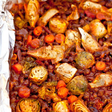 Spicy Baked Black Beans with Vegetables (Vegan, Gluten Free)