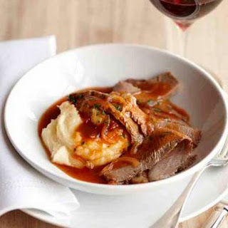 Braised Brisket with Beer & Onion Sauce