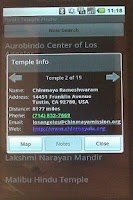 Screenshot of Hindu Temple Finder