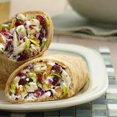 Lemon Roasted Chicken Salad Wrap