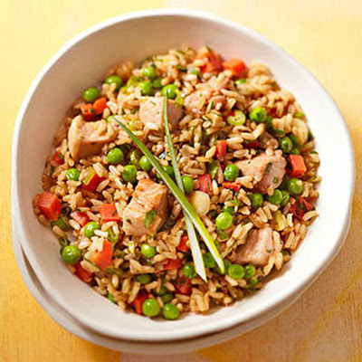Pork Fried Rice With Peas and Carrots