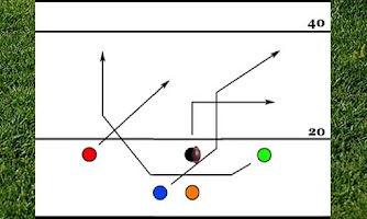 Screenshot of 5 Man Flag Football Playbook