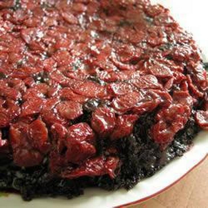 Cherry Chocolate Upside Down Cake Recipe | Yummly