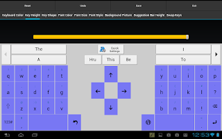 Screenshot of Adaptxt Tablet Keyboard - Free