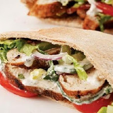 Marinated Chicken Pita Sandwich