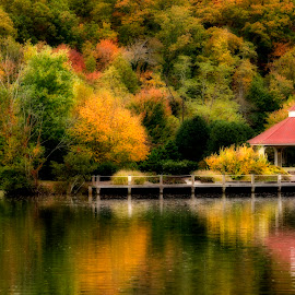 Lake Lure, NC by Steven Faucette - Landscapes Waterscapes ( mountains, fall, lake, lure, north carolina )