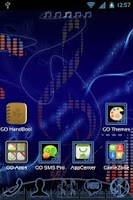 Screenshot of GO Launcher EX Music Theme