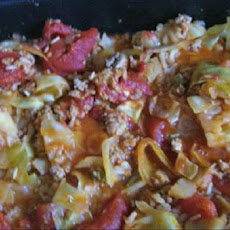 Turkey and Cabbage Casserole