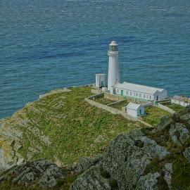 The Lighthouse by Joshua Malcolm  - Buildings & Architecture Other Exteriors ( amazing, anglesey, cliff, lighthouse, sea, view, landscape )