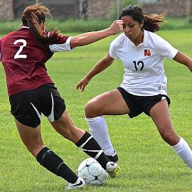 Crossover by Steven Aicinena - Sports & Fitness Soccer/Association football ( women, soccer )