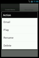 Screenshot of Ultimate Voice Recorder memo