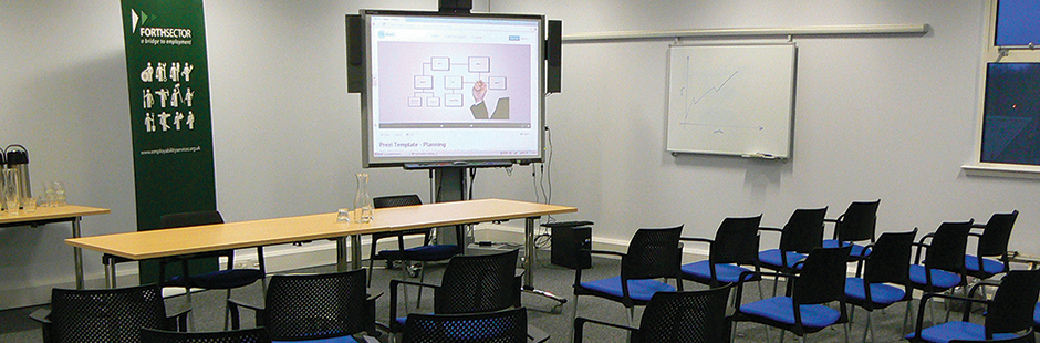 The Conference room at Duddingston Yards, Edinburgh