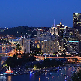 Beautiful Pittsburgh at dusk by Lalit Darunte - City,  Street & Park  Skylines