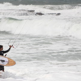 kite surfing by Maz Tissink - People Portraits of Men ( water, watersports, ocean )