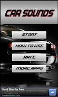 Screenshot of Car Sounds