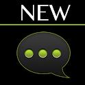 GO SMS Black Green Theme